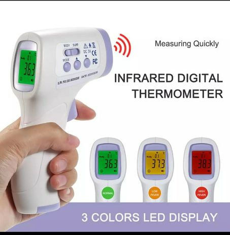 Termômetro  infravermelhos medição temperatura-Novo