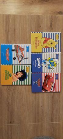 Książki 5 szt - Samoloty, Auta, Ksiega Dżungli, Kubuś, Smerfy