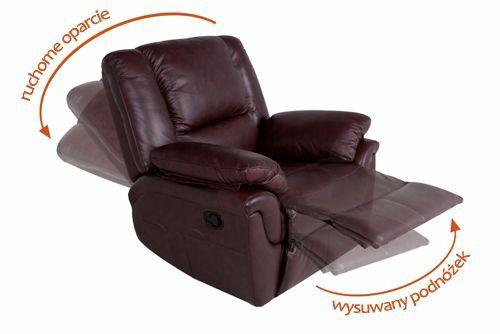 Kanapa trzyosobowa i fotel z wysuwanym podnóżkiem i funkcją relax