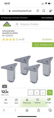 4 pés quadrados aluminio