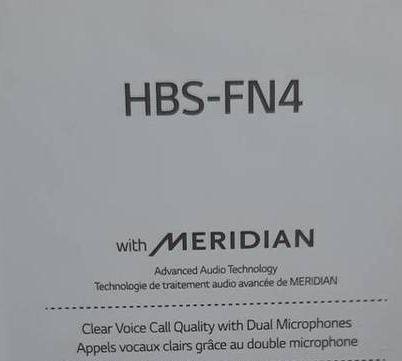 Nowe LG Słuchawki TONE Free, bezprzewodowe, douszne HBS-FN4 gwarancja