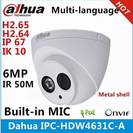 IP видеокамера Dahua IPC-HDW4631C-A 6Мп, H.265, POE, с микрофоном