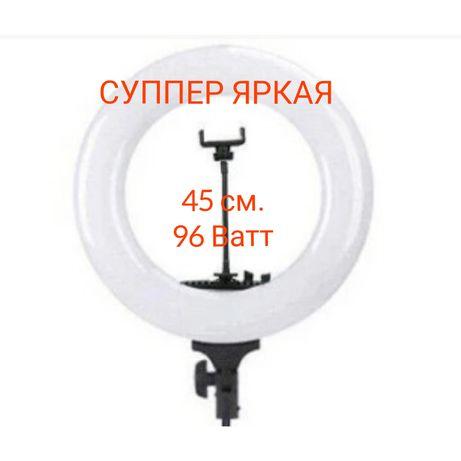Мощная Кольцевая Лампа SY 3161 45 см.96 ват+480 диод+5200Лм+зерк.+сумк