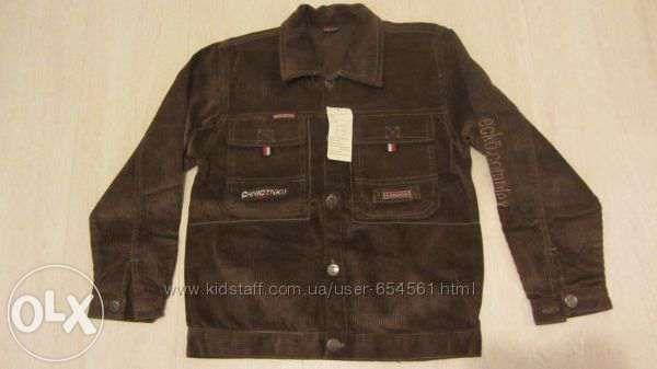 Вельветовый пиджак на рост 128-140 см