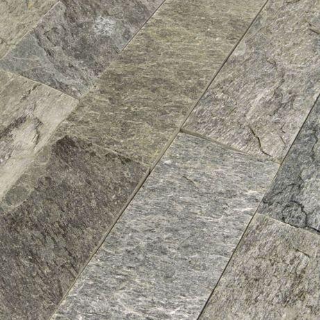 Płytki Łupek Silver Shine naturalny 10x30x0,8-1,3 cm Elewacja Ściana