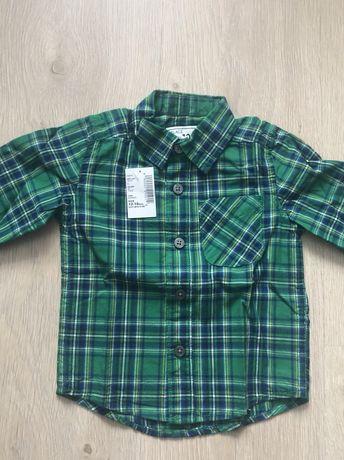 2 рубашки The children's place, H&M 12-18