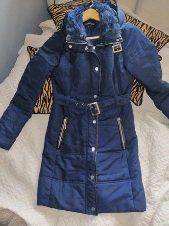 Płaszcz granatowy zimowy top secret 34 /S