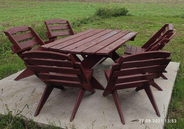 Zestaw ogrodowy stół+6 krzeseł