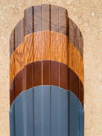 Sztachety metalowe dwustronne powłoka drewnopodobna na wymiar