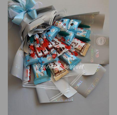 Съедобный букет/ Букет из конфет/ Оригинальный/ необычный подарок