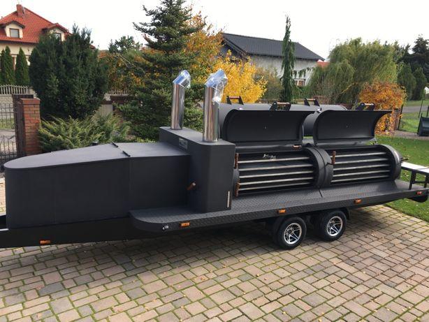 smoker mobilny grill bbq Texas 4 xxl long