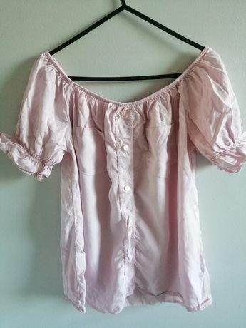 Bluzka hiszpanka pudrowy róż, one size