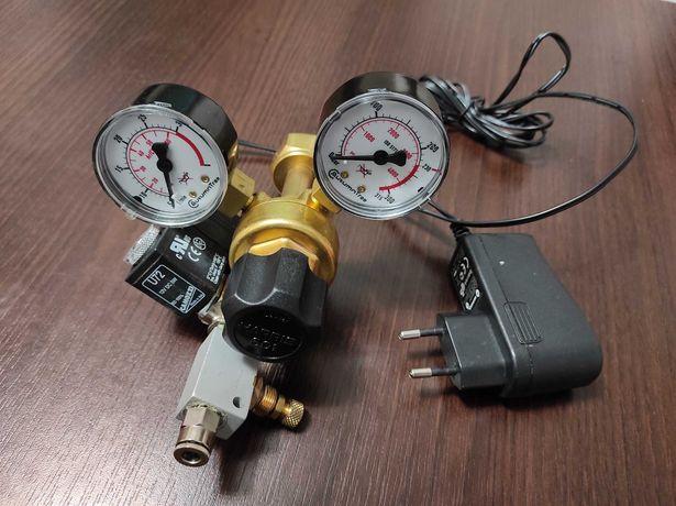 Reduktor CO2 + elektrozawór + zaworek precyzyjny