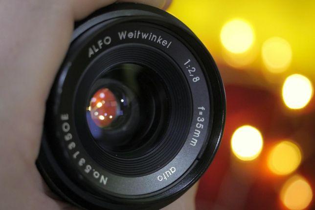 Obiektyw ALFO 35mm f/2.8 M42 super stan EF M43