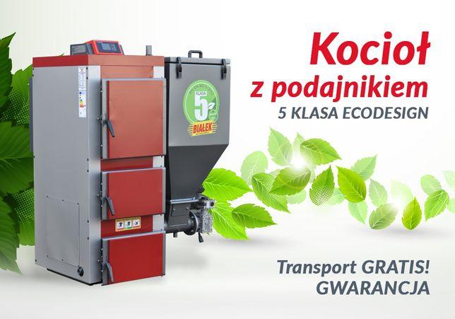 Kocioł piec z podajnikiem 5 klasa Ecodesign na Ekogroszek 80-120m2