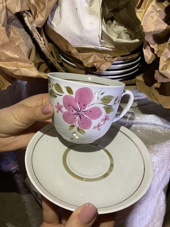 Посуда СССР, тарелки, салатницы, наборы тарелок