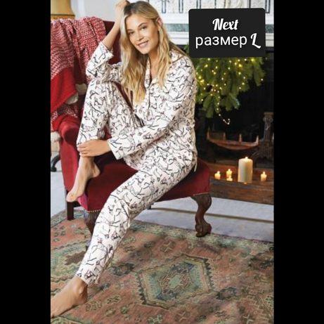 Женская теплая пижама Next размер L пижама Некст