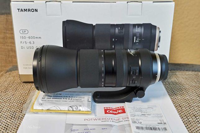 Obiektyw Tamron SP 150-600 G2 sony A + adapter Sony LA-EA 4