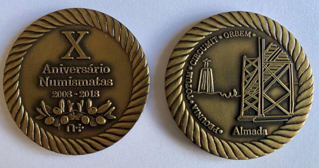 Numismatica - Medalha do 10º Encontro do Fórum dos Numismatas