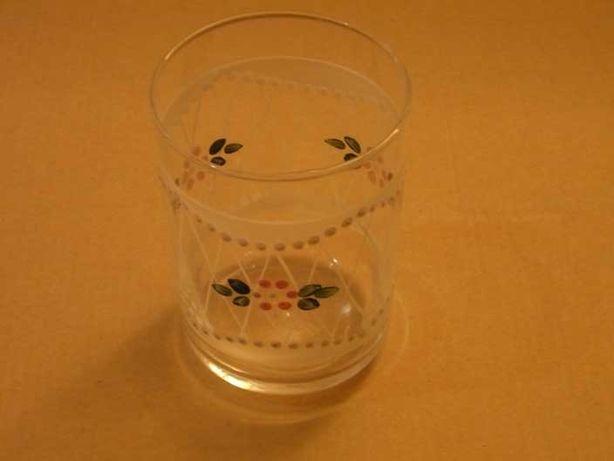 Copo vidro gravado e pintado