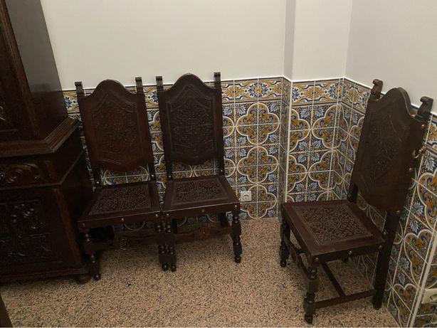 Mobília de sala em madeira maciça VENDA URGENTE