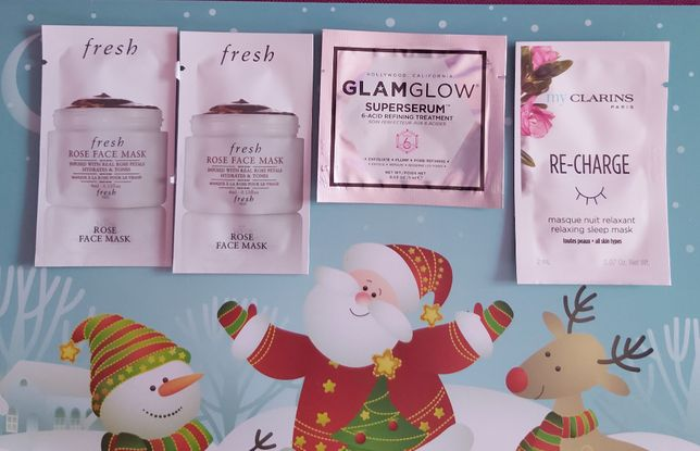 Fresh Rose FaceMask,myClarins mask,serum GlamGlow