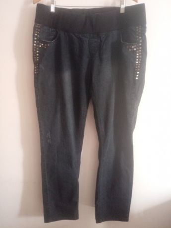 Spodnie ciążowe z wyższym stanem,jeansy New Look Maternity,rozm.46.