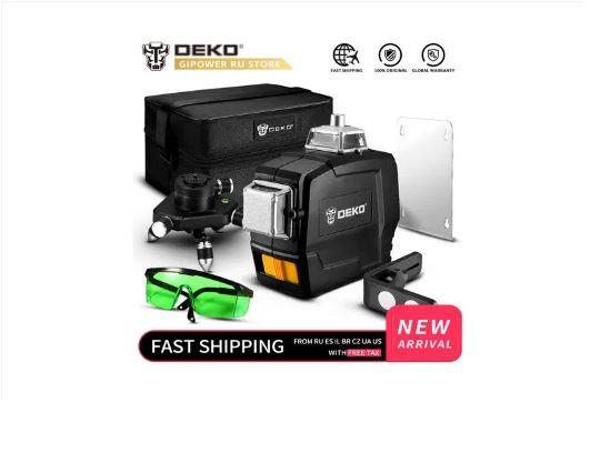 Оригінал Deko 12 линий 3D360° Лазерний рівень Лазерный нивелир уровень