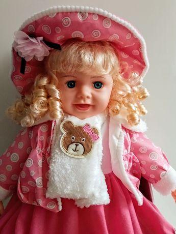 Lalka interaktywna, duża, 60 cm, mówiąca i śpiewająca po polsku