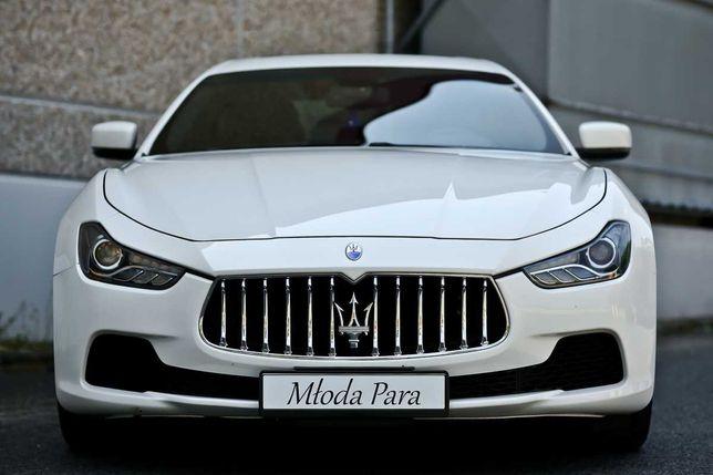 Maserati auto do ślubu z kierowcą
