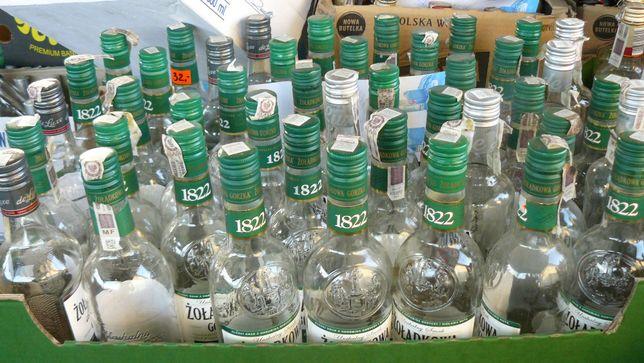 butelki na soki, alkohol, wino