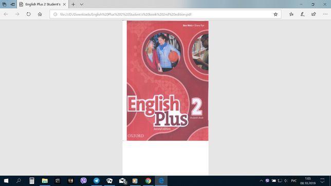 Английский English Plus 2 Student's book 2nd edition и Work book