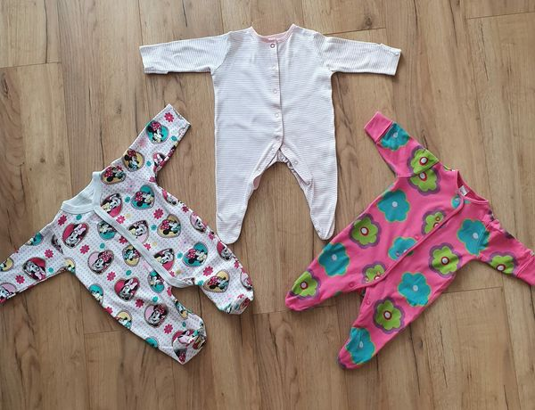 Ubranka dla niemowlaka. Piżama, pajac do spania 0-3 miesiące, 56-62 cm
