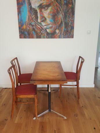 Krzesło + ława PRL Loft