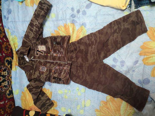 Теплий костюм вельветовий на хлопчика 1,5-2,5 років