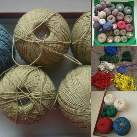 Нитки и ленты для вязания и шитья