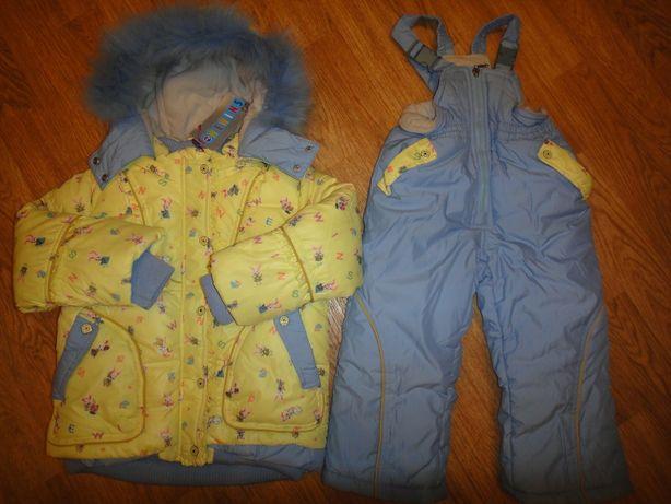 Шикарный зимний комбинезон + куртка Wewins на девочку р.98-104-110 (2-