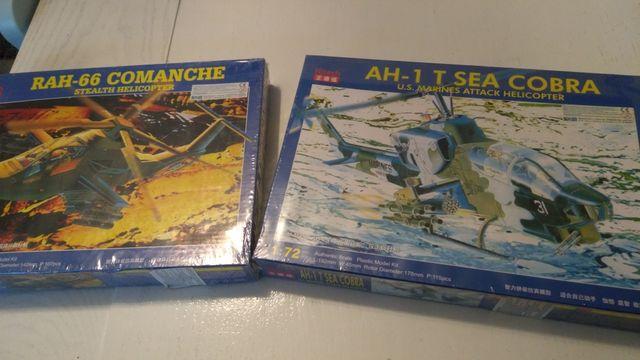 Dwa modele do sklejania Kitech w folii, model RAH-66 i AH-1. Cena za 2