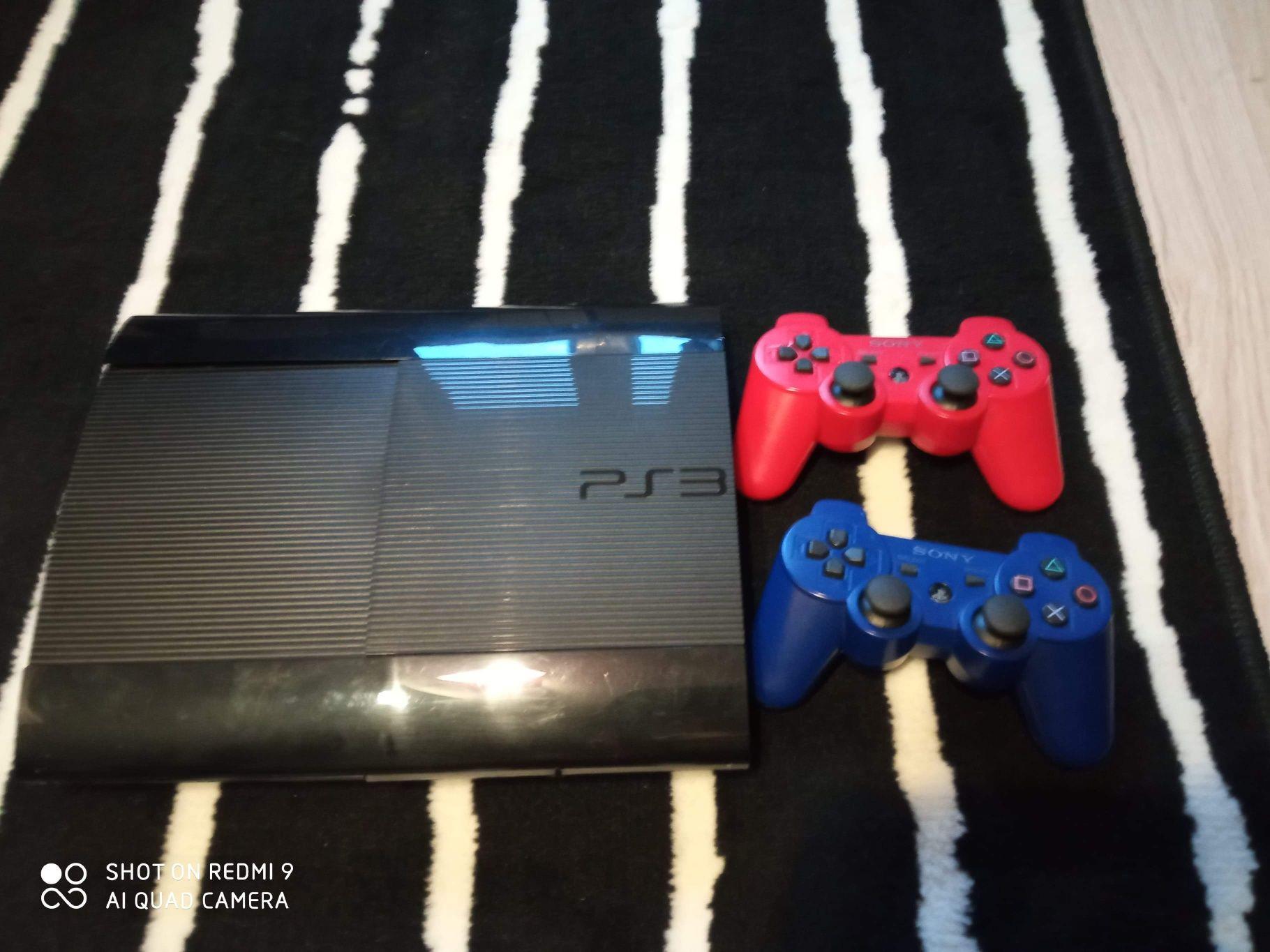 PS3 super slim 500gb 2 pady