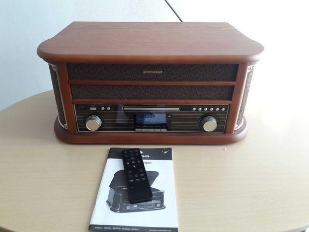 Wieża stereo retro Belle Epoque 1908 Gramofon DAB+FM Bluetooth