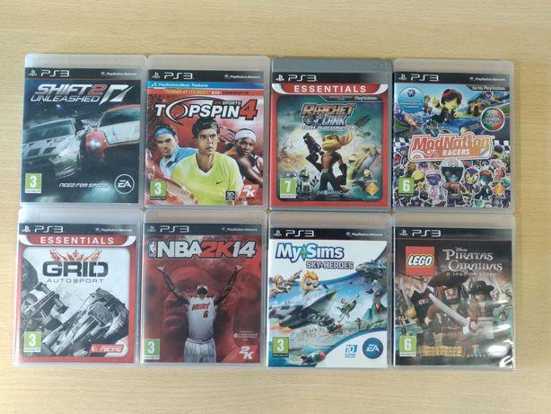 Jogos PS3 como novos NFS Shift Grid Ratchet NBA Volante pedais Trust