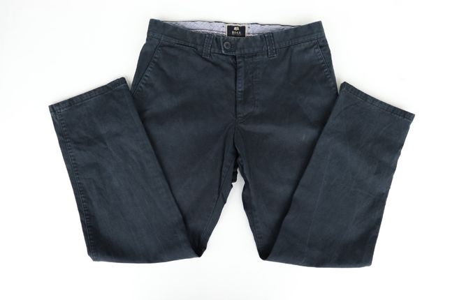 Spodnie męskie chinosy BRAX Perma Blue W33 L32