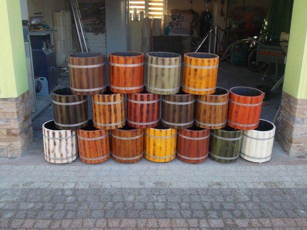 Doniczka ,donica okrągła drewniana cudo 17 kolorów ( różne wymiary)