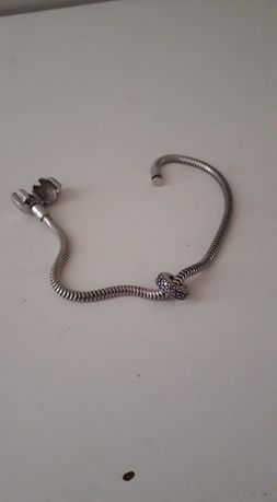 Srebrna bransoletka, dł. 19 cm