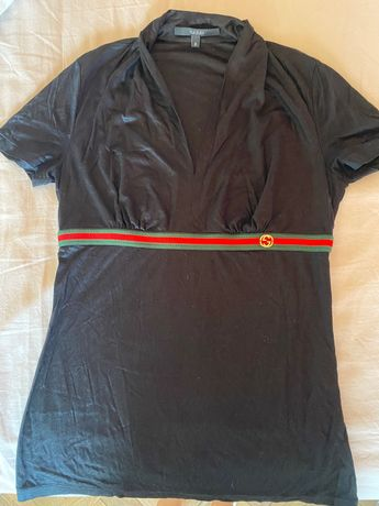 T-shirt preta original da Gucci
