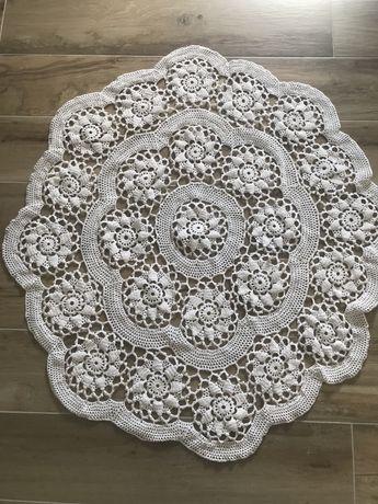 Toalha de crochet redonda