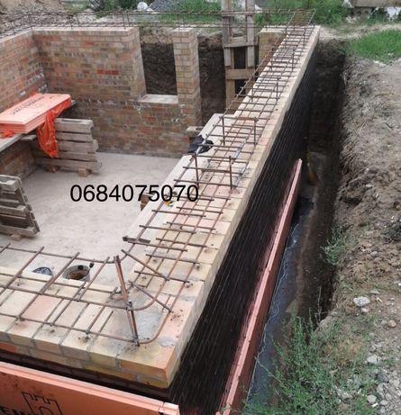 Заливка фундаментов, площадок, бетонные роботы