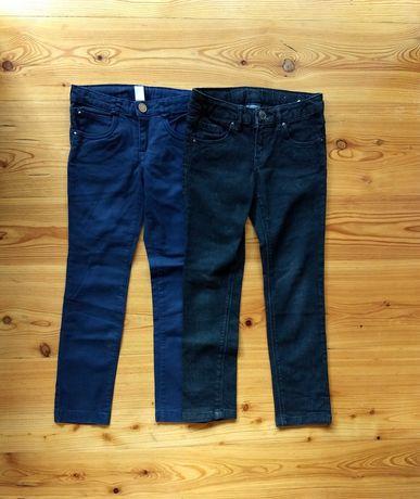 ZARA 2 pary spodni 116 jeansy granatowe i czarne