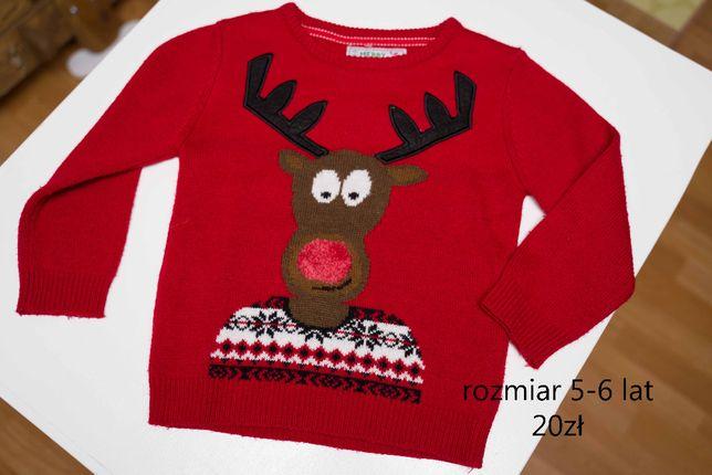 sweter swiateczny 5-6 lat