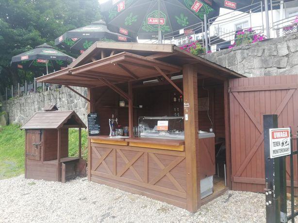 Domek  drewniany sprzedazowy